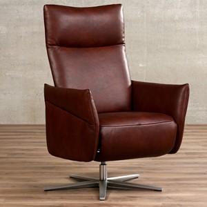 Leren relaxfauteuil ease bruin, bruin leer, bruine stoel | ShopX