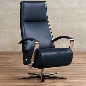 Leren relaxfauteuil idol blauw, blauw leer, blauwe stoel | ShopX