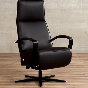 Leren relaxfauteuil idol bruin, bruin leer, bruine stoel | ShopX