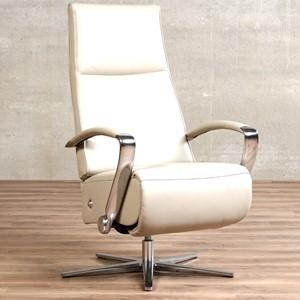 Leren relaxfauteuil idol grijs, grijs leer, grijze stoel | ShopX