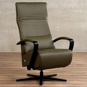 Leren relaxfauteuil matrix groen, groen leer, groene stoel | ShopX