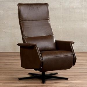 Leren relaxfauteuil mojo bruin, bruin leer, bruine stoel | ShopX