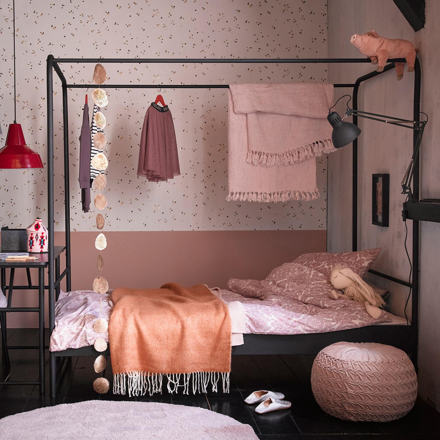 vtwonen Bed 'Bunk' 90 x 200cm, kleur Zwart | vtwonen