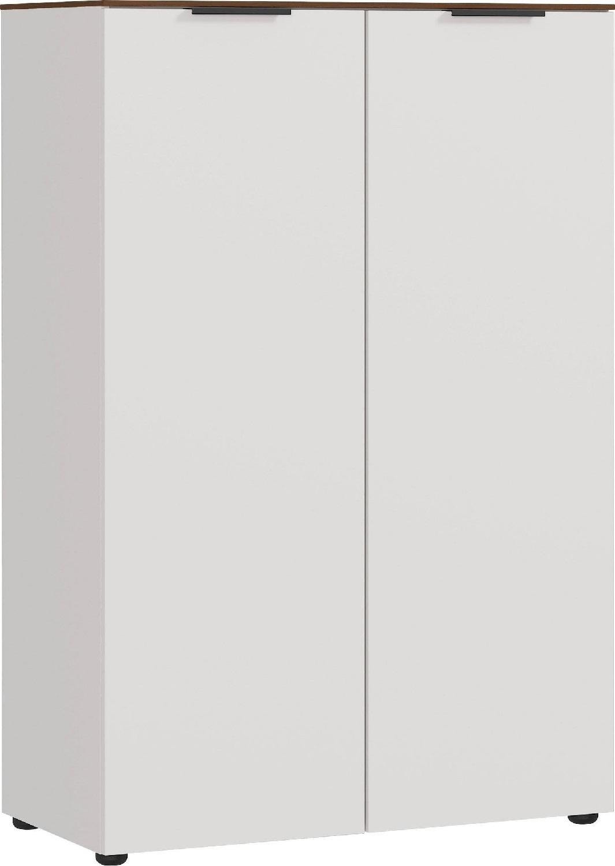 Archiefkast Ancona medium 120 cm hoog in Cashmere met walnoot | Germania