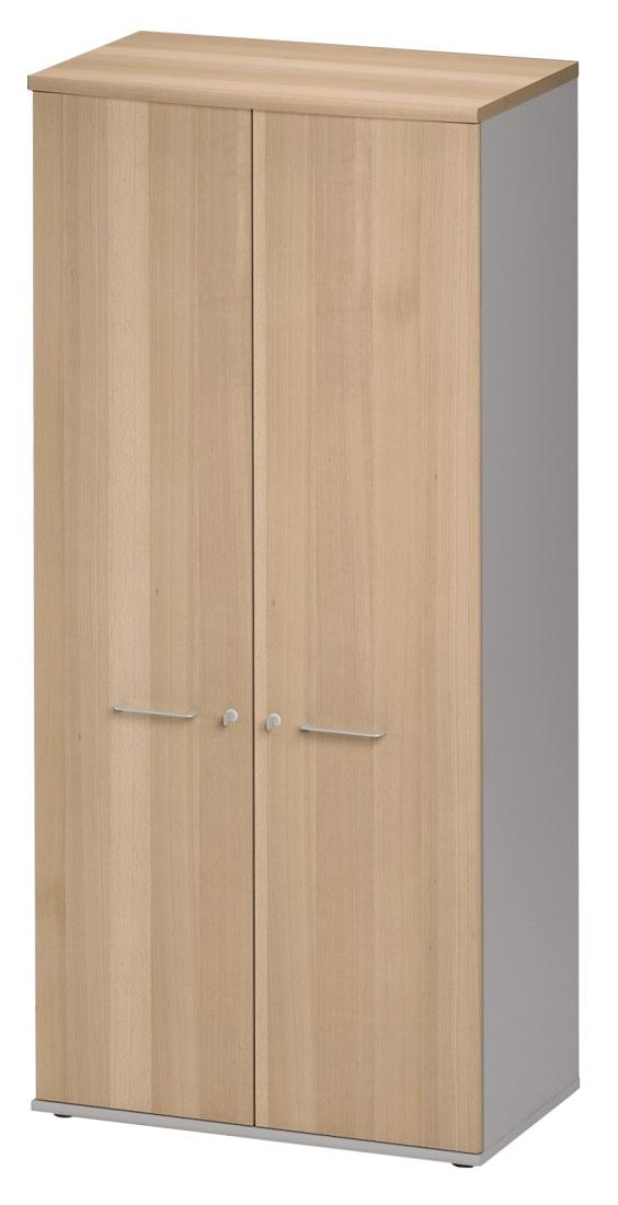 Archiefkast Jazz Small van 183 cm hoog in beuken met licht grijs | Gamillo Furniture