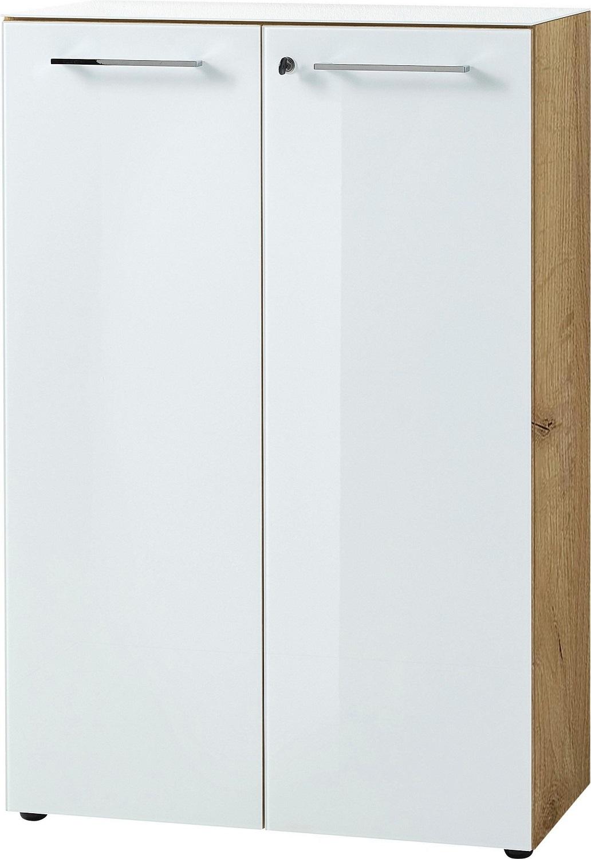 Archiefkast Monteria 120 cm hoog in navarra eiken met wit | Germania
