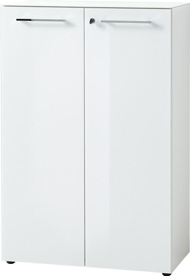 Archiefkast Monteria 120 cm hoog in wit | Germania