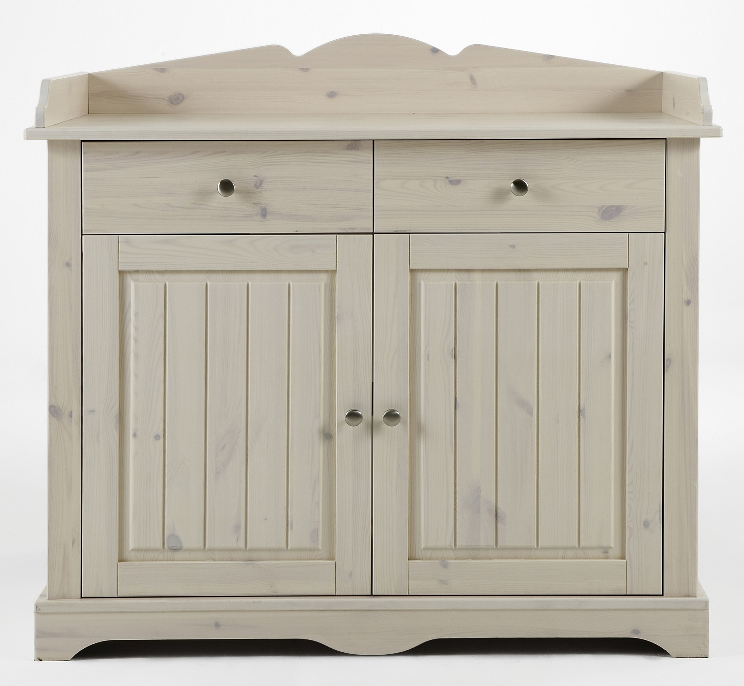 Baby commode Lotta 107 cm hoog in wit whitewash   DS Style