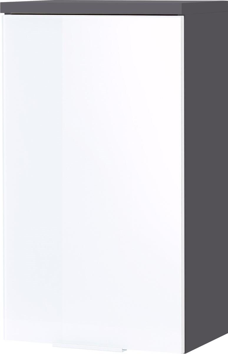 Badkamer hangkast Pescara 69 cm hoog wit met grafiet | Germania