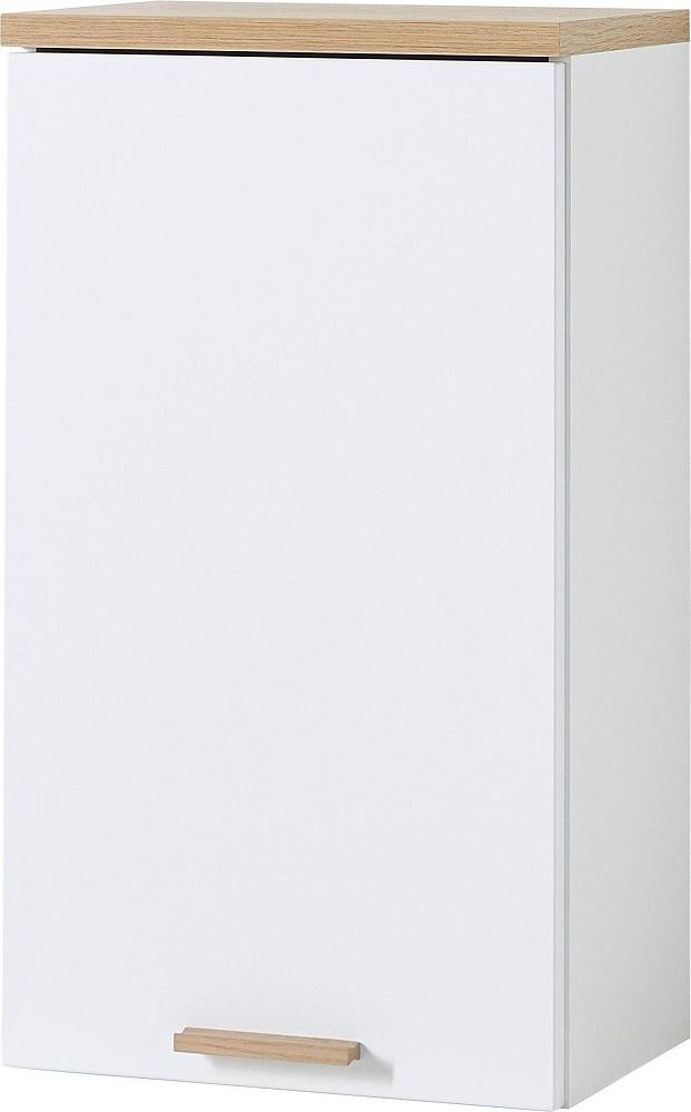 Badkamer hangkast Tropea 69 cm hoog – Wit met navarra eiken | Germania