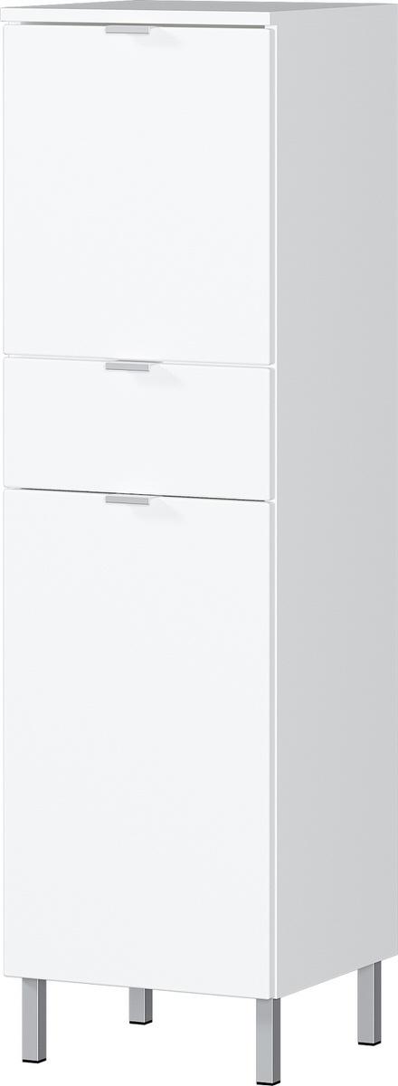 Badkamerkast Bruno 120 cm hoog in wit | Germania