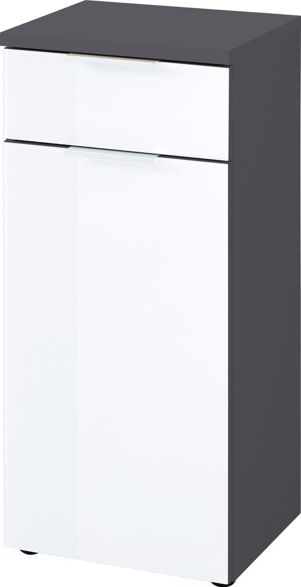Badkamerkast Pescara 86 cm hoog in wit met grafiet   Germania