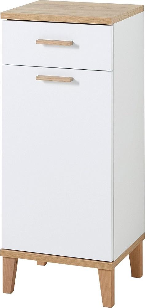 Badkamerkast Tropea 91 cm hoog – Wit met navarra eiken   Germania