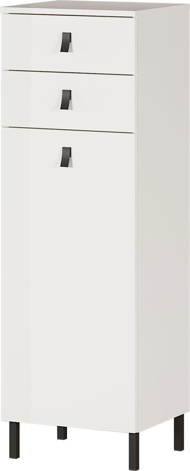 Badkamerkast Tulsa 119 cm hoog in wit | Germania