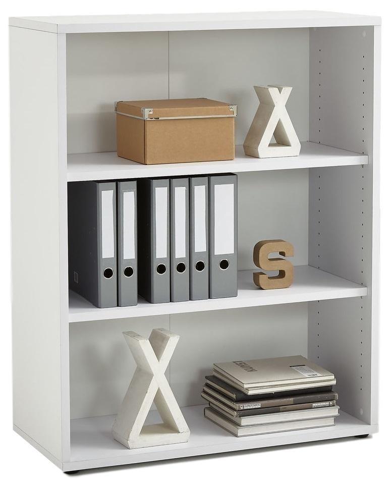 Boekenkast Calvia Medium van 111 cm hoog in wit | FD Furniture