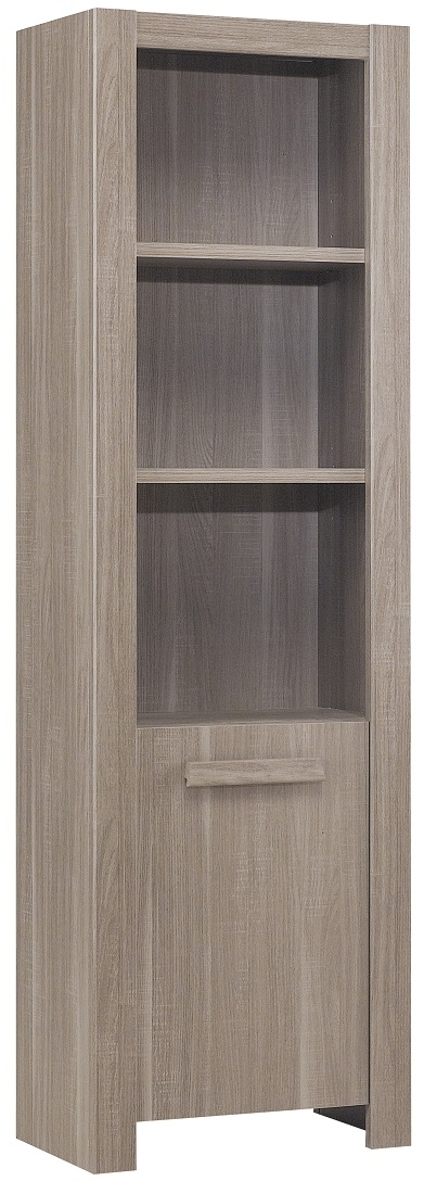 Boekenkast Hangun 196 cm hoog in houtskool eiken   Gamillo Furniture