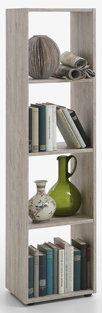 Boekenkast Mega 140 cm hoog in zand eiken | FD Furniture