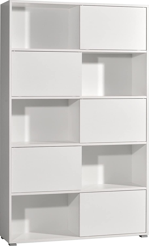 Boekenkast Slide 196 cm hoog in wit | Germania
