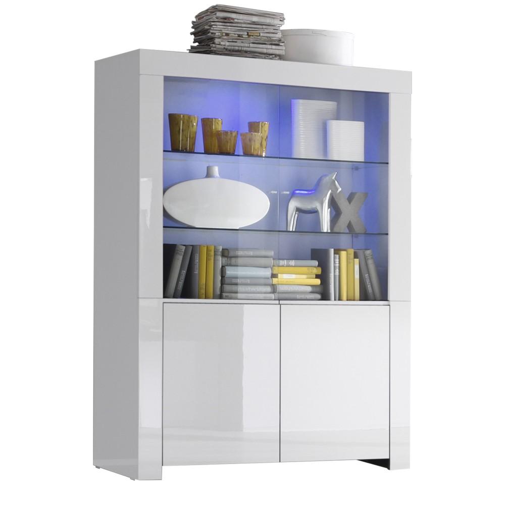 Buffetkast Malifi 2 Deurs 170 cm hoog in hoogglans wit | Pesaro Mobilia