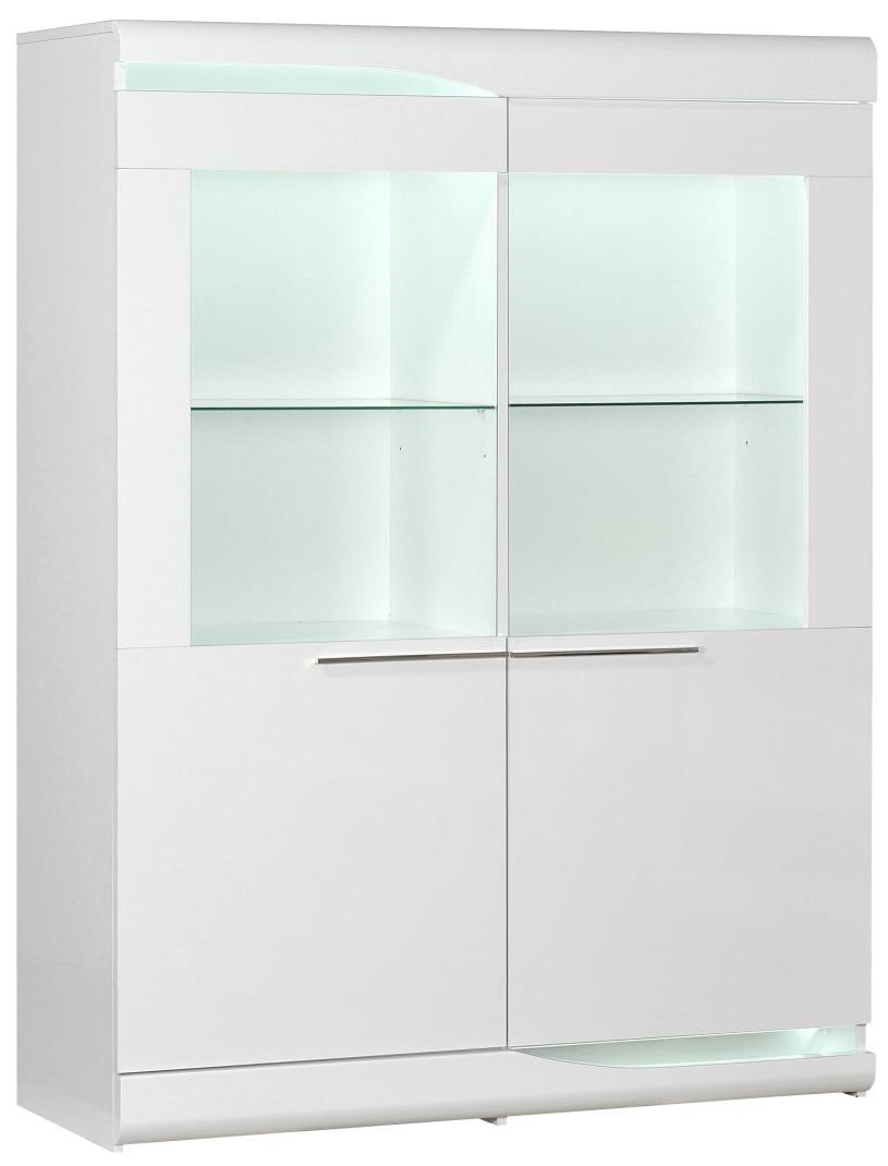 Buffetkast Ovio 160 cm hoog in hoogglans wit | Ameubelment