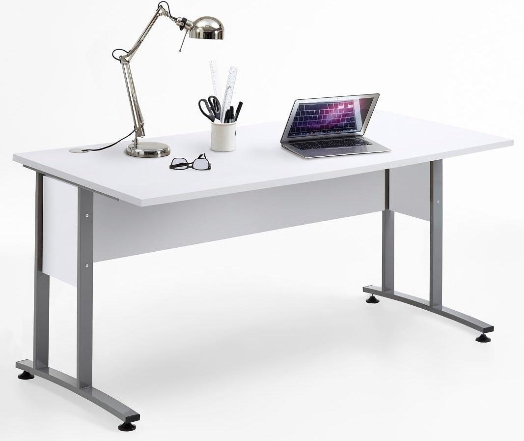Bureau Calvia 160 cm breed in wit | FD Furniture