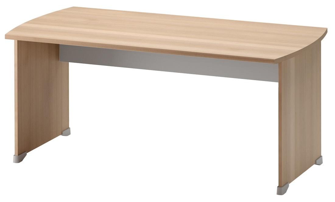 Bureau Jazz 160 cm breed in beuken met licht grijs | Gamillo Furniture