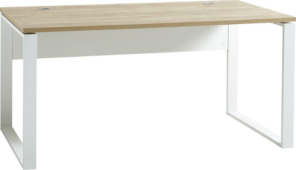 Bureau Lioni 160 cm breed – wit met navarra eiken   Germania