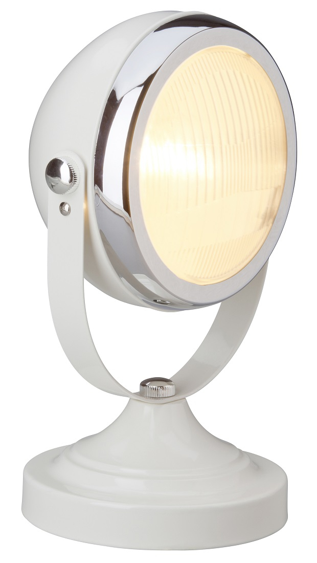 Bureaulamp Relax 1x E14 van 28W in hoogglans creme   Brilliant