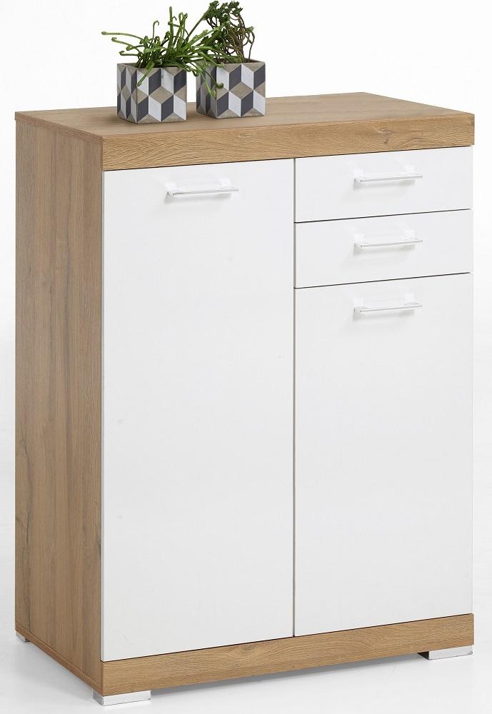 Commode Bristol 22 XL van 109 cm hoog in oud eiken met wit | FD Furniture
