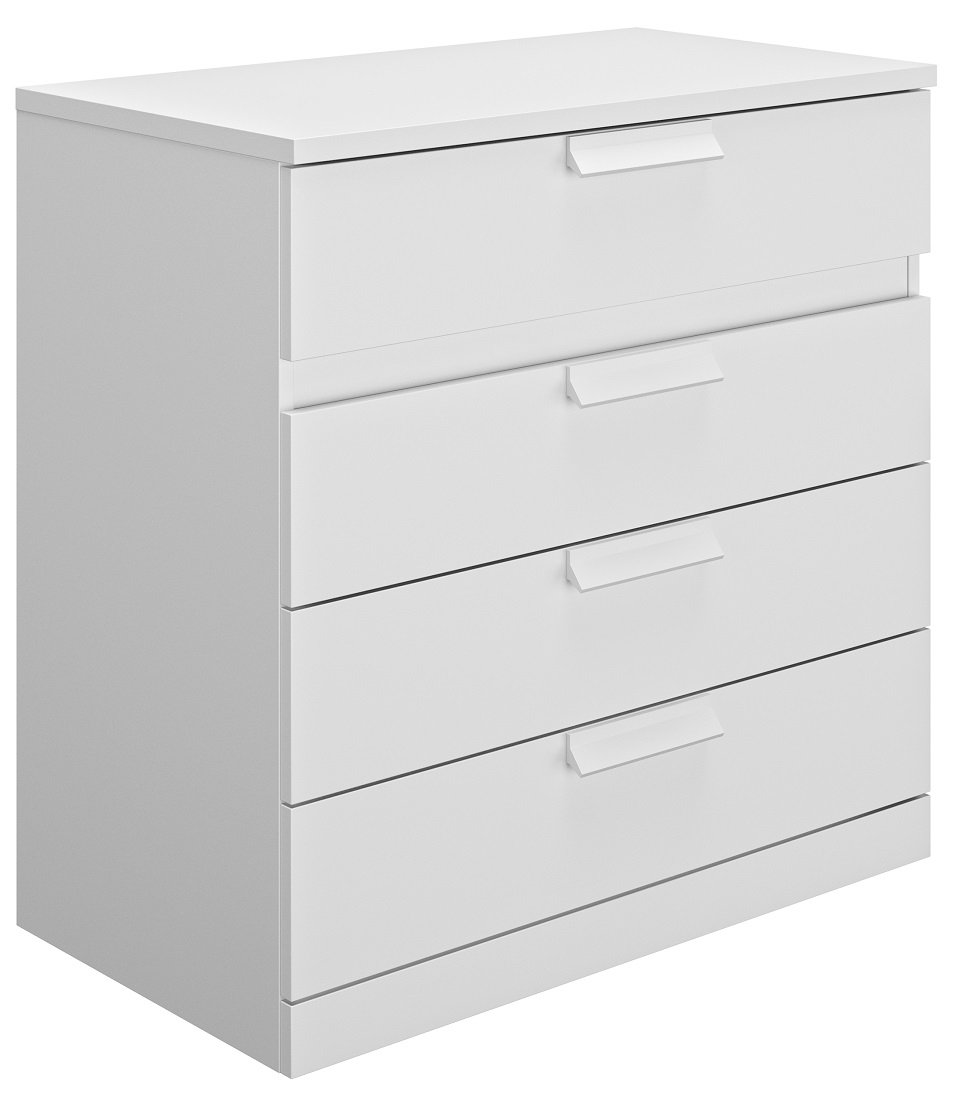 Commode Cyrus 81 cm hoog in wit   Gamillo Furniture