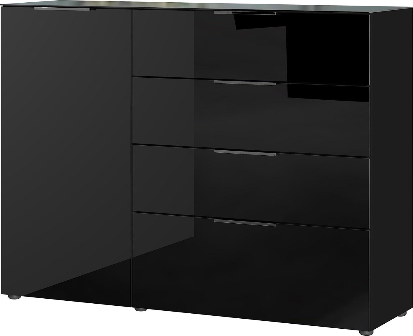 Dressoir Oakland 134 cm breed in zwart | Germania