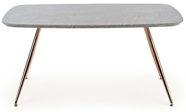 Eettafel Barcona 160 cm breed in marmer grijs | Home Style