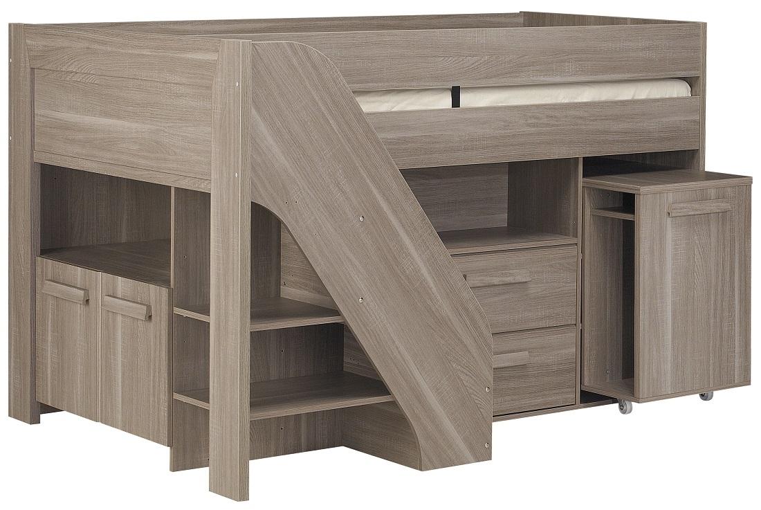 Halfhoogslaper Hangun 90x200cm in houtskool eiken | Gamillo Furniture