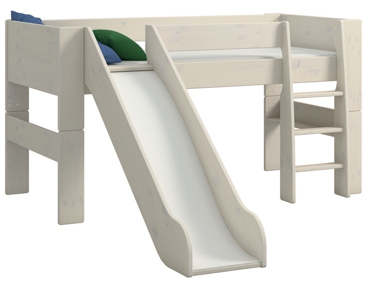 Halfhoogslaper Kids XL 90x200cm in wit whitewash | DS Style