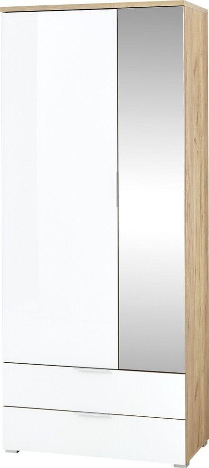 Halkast Telde 196 cm hoog in navarra eiken met wit | Germania