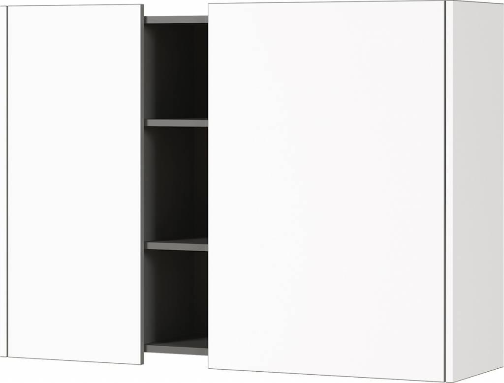 Hangkast Veluva 103 cm breed in wit met grafiet | Germania
