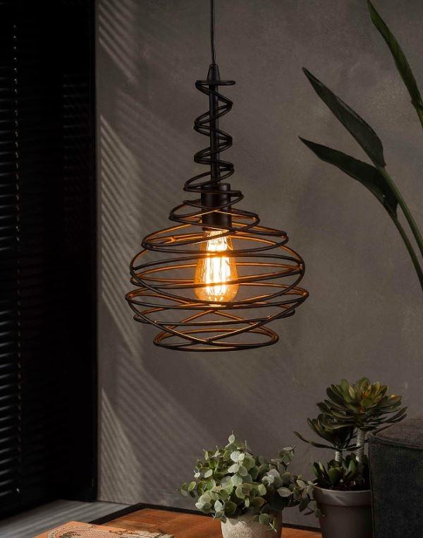 Hanglamp Kegel spin Ø25 in zwart | Zaloni
