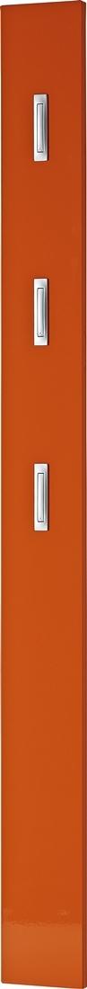 Kapstokpaneel Brenda 170 cm hoog in hoogglans oranje | Germania