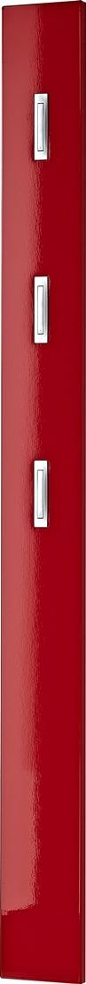 Kapstokpaneel Brenda 170 cm hoog in hoogglans rood | Germania