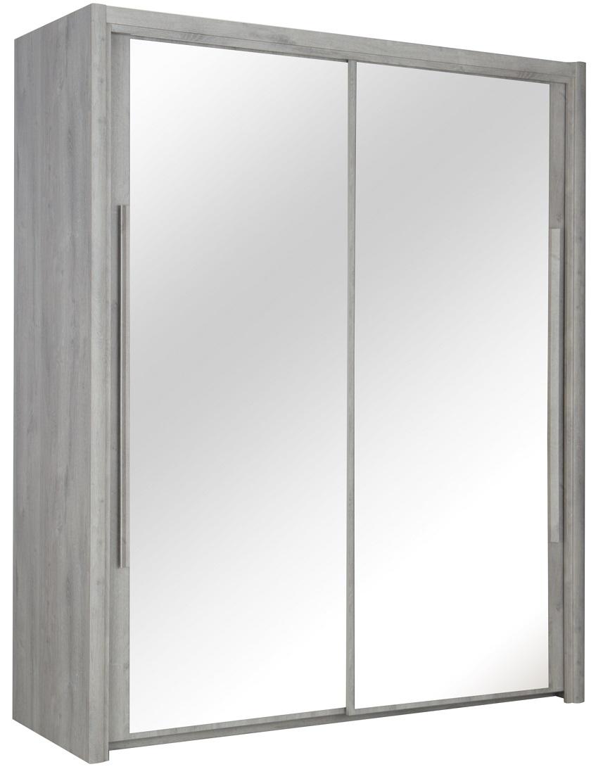 Kledingkast Cyrus 183 cm breed in grijs eiken | Gamillo Furniture