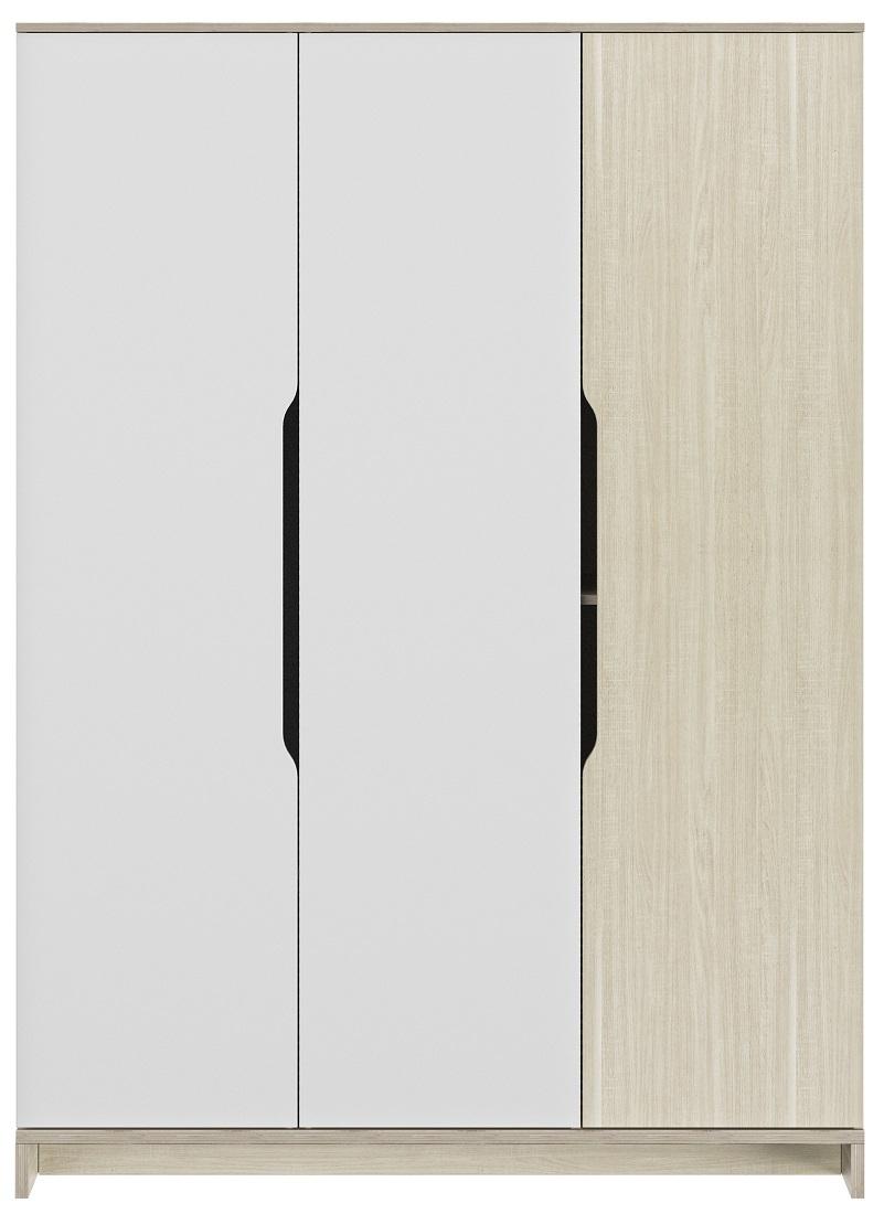 Kledingkast Gray 145 cm breed in wit met eiken | Gamillo Furniture