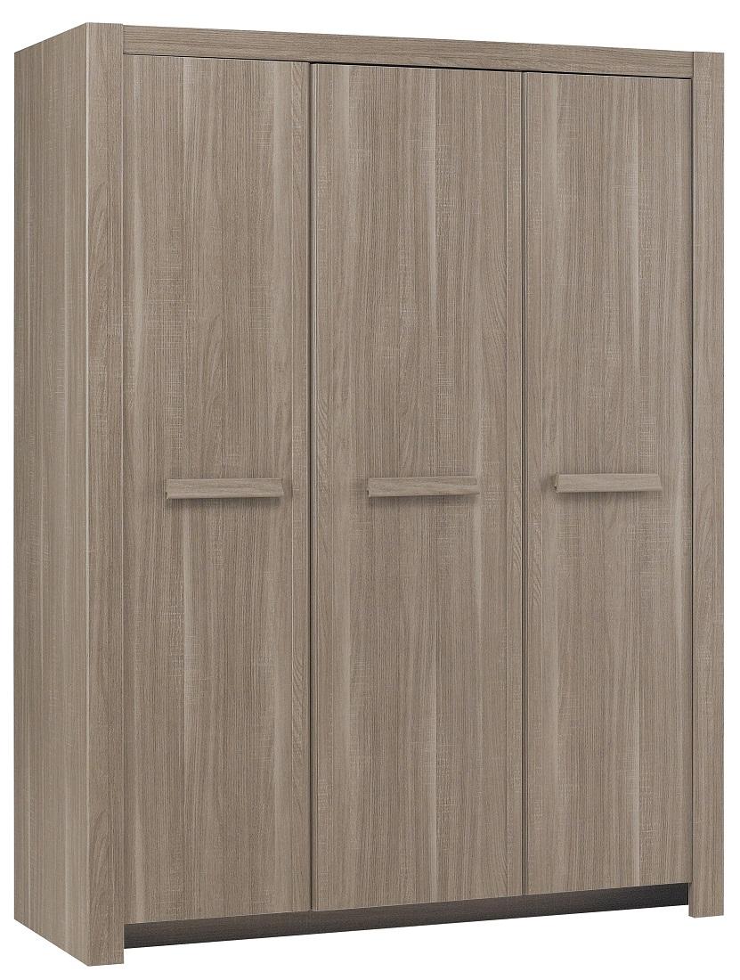 Kledingkast Hangun 151 cm breed in houtskool eiken | Gamillo Furniture