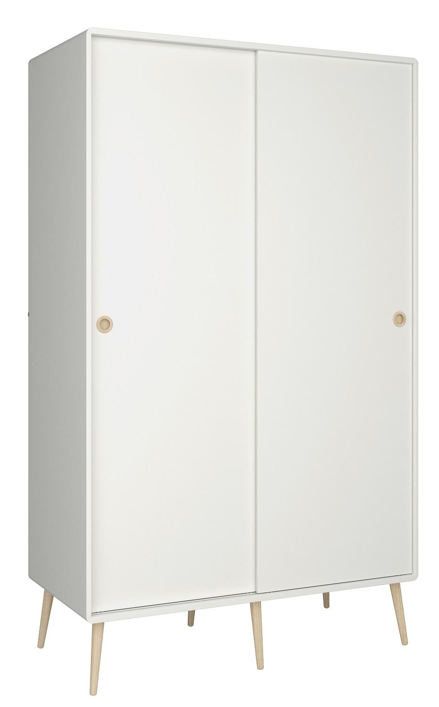 Kledingkast Kids 190 cm hoog in wit | DS Style