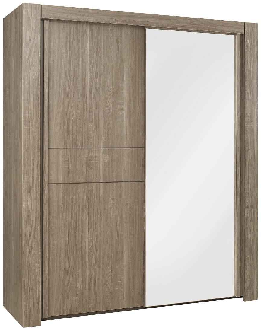 Kledingkast Moka 192 cm breed in houtskool eiken | Gamillo Furniture
