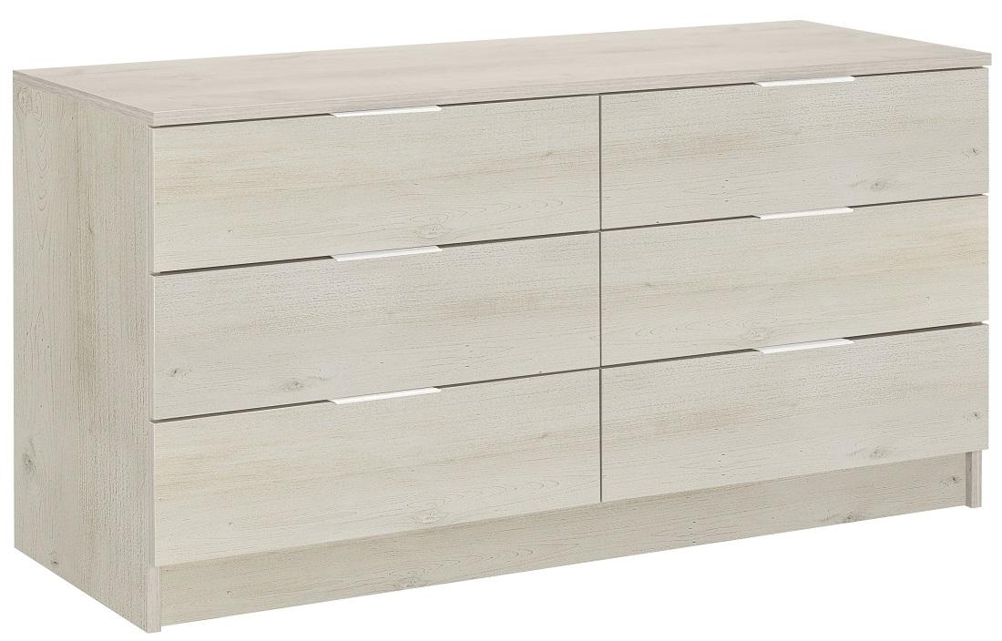 Ladekast Brooklyn 135 cm breed in gekalkte kersenhout   Gamillo Furniture