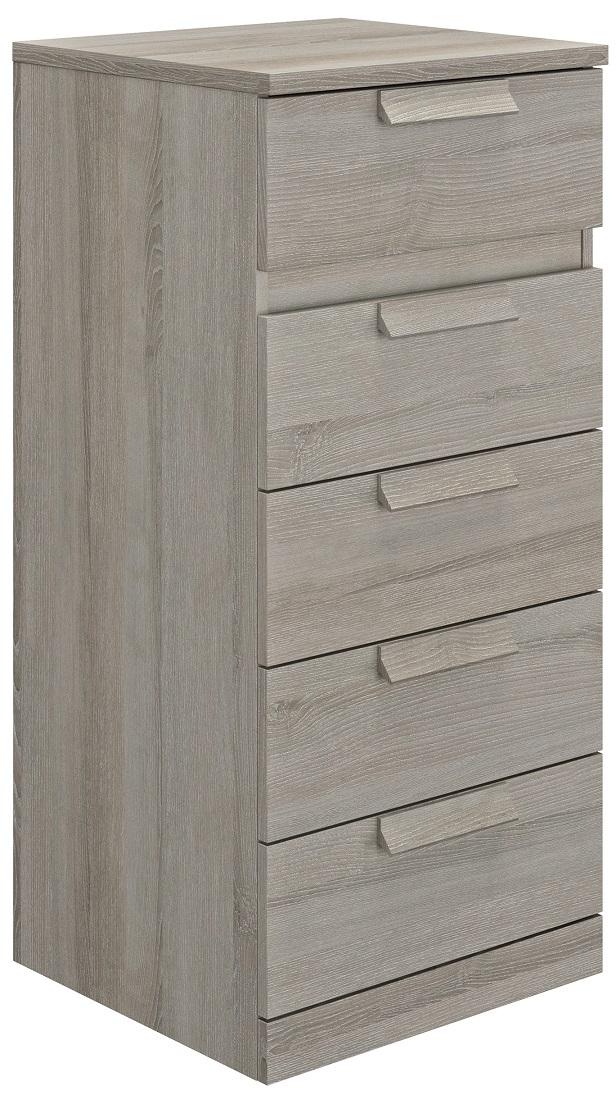 Ladekast Cyrus 102 cm hoog in grijs eiken | Gamillo Furniture
