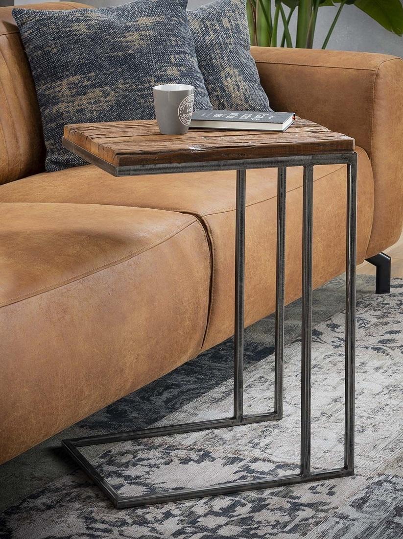 Laptoptafel Grained 62 cm hoog – Robuust hardhout | Zaloni
