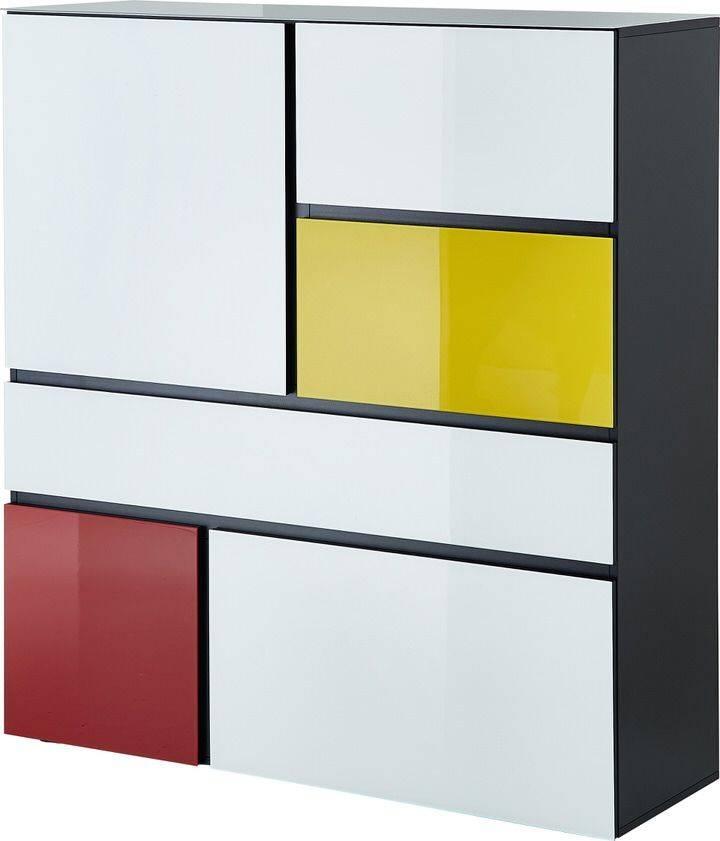 Multifunctioneel opbergkast Ideeus 130 cm hoog in multicolor | Germania
