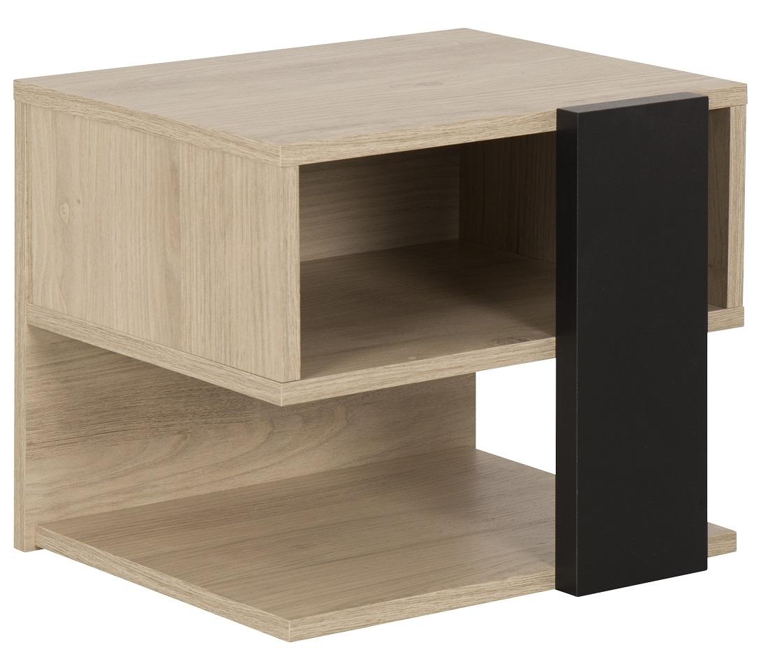 Nachtkastje Duplex 37 cm hoog in naturel kastanje | Gamillo Furniture