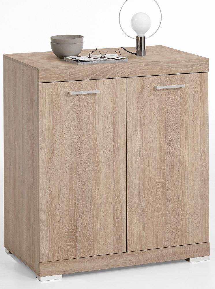 Opbergkast Bristol 1 XL van 90 cm hoog in eiken | FD Furniture